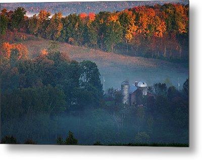 Autumn Scenic - West Rupert Vermont Metal Print by Thomas Schoeller