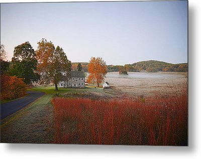 Autumn Walk In Valley Forge Metal Print by Bill Cannon