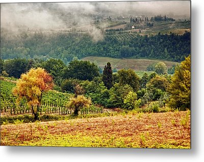 Autumnal Hills Metal Print by Silvia Ganora