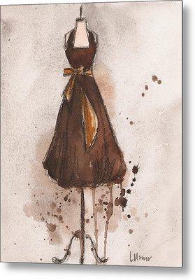 Autumn's Gold Vintage Dress Metal Print by Lauren Maurer