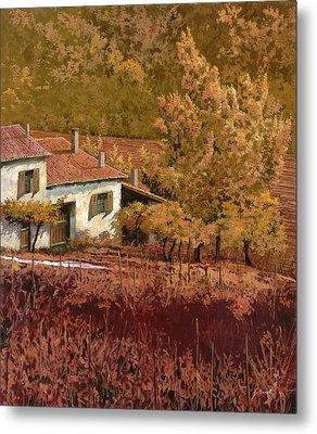 Autunno Rosso Metal Print by Guido Borelli