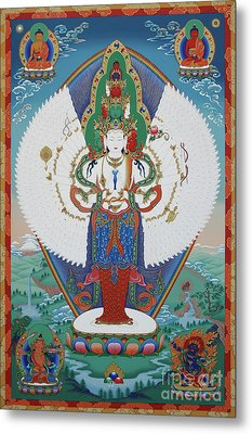 Avalokiteshvara Lord Of Compassion Metal Print by Sergey Noskov