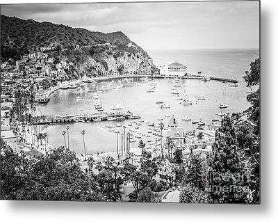 Avalon California Black And White Photo Metal Print by Paul Velgos