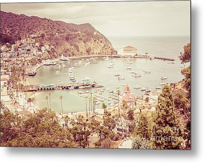 Avalon California Catalina Island Retro Photo Metal Print by Paul Velgos