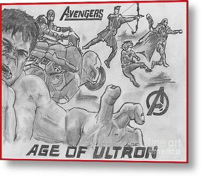 Avengers Age Of Ultron Metal Print by Chris  DelVecchio