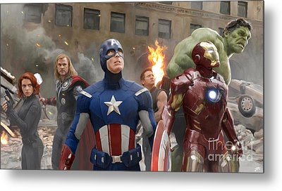 Avengers Metal Print by Paul Tagliamonte