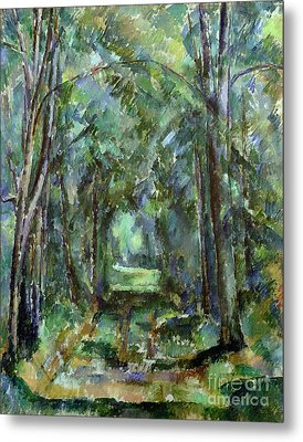 Avenue At Chantilly Metal Print by Paul Cezanne