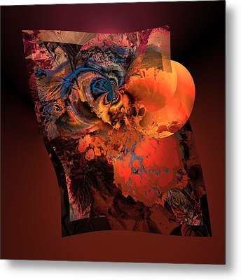 Aw 1 Cosmic Ovulation Metal Print by Claude McCoy