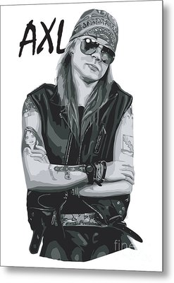 Axl Rose Metal Print by Unknow