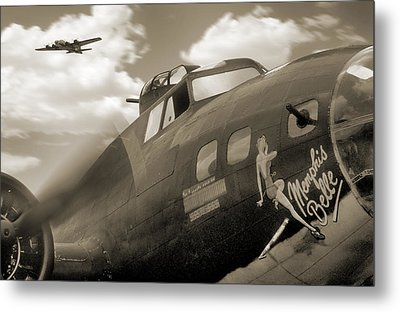 B - 17 Memphis Belle Metal Print by Mike McGlothlen