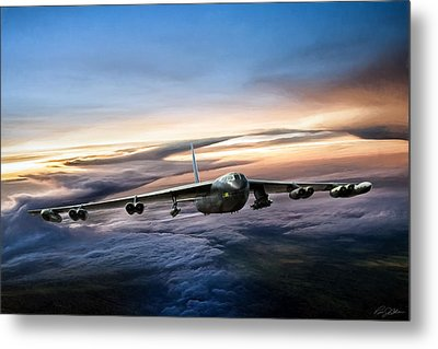 B-52 Inbound Metal Print by Peter Chilelli