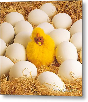 Baby Chick Metal Print by Anne Geddes