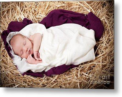 Baby Jesus Nativity Metal Print by Cindy Singleton