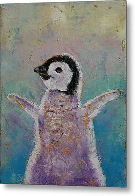 Baby Penguin Metal Print by Michael Creese