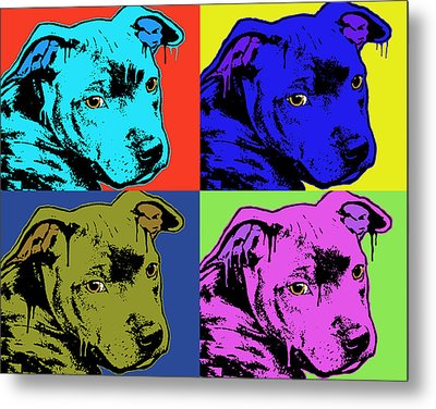 Baby Pit Face Metal Print by Dean Russo