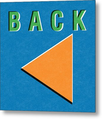 Back Button Metal Print by Linda Woods