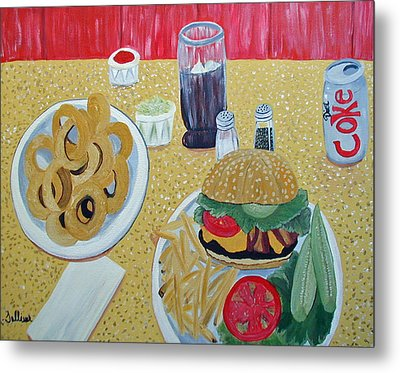 Bacon Cheeseburger Deluxe Metal Print by Norma Tolliver