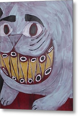 Bad Kitty Metal Print by William Douglas
