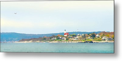 Bakers Island Lighthouse Metal Print by Michelle Wiarda