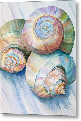 Balance In Spirals Watercolor Painting Metal Print by Michelle Wiarda