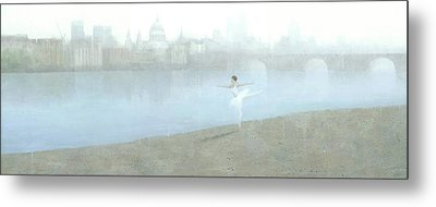 Ballerina On The Thames Metal Print by Steve Mitchell