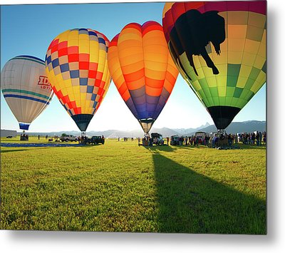 Balloon Glow Metal Print by Leland D Howard