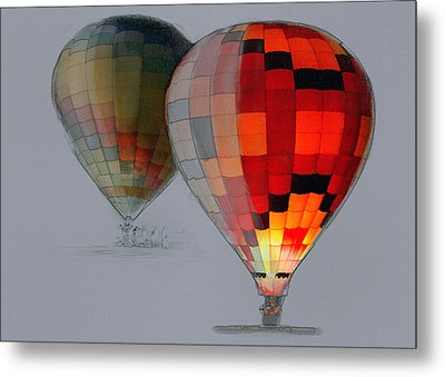 Balloon Glow Metal Print by Sharon Foster