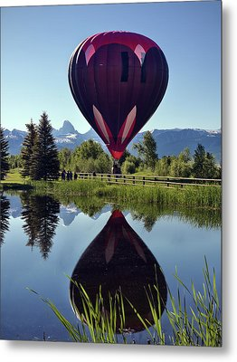 Balloon Reflection Metal Print by Leland D Howard