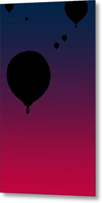 Balloons At Dusk Metal Print by Jera Sky