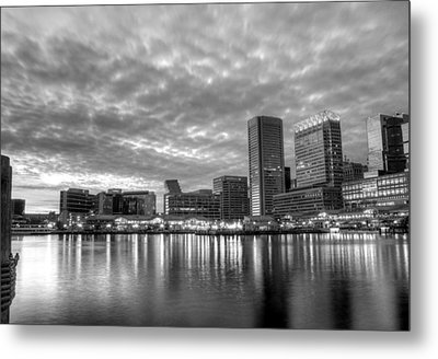 Baltimore In Black And White Metal Print by JC Findley