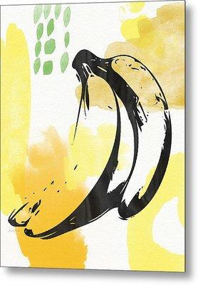 Bananas- Art By Linda Woods Metal Print by Linda Woods