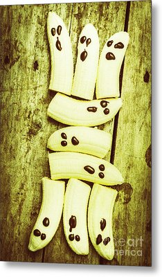Bananas With Painted Chocolate Faces Metal Print by Jorgo Photography - Wall Art Gallery
