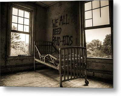 Band-aids Metal Print by Michelle Bir
