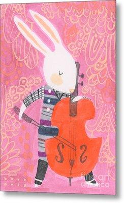 Cello Band Geek Metal Print by Kate Cosgrove