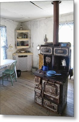 Bannack Ghost Town  Kitchen And Stove - Montana Territory Metal Print by Daniel Hagerman