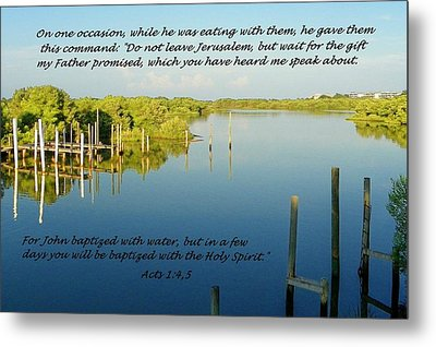Baptized Metal Print by Sheri McLeroy