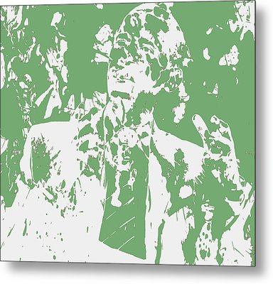Barack Obama Paint Splatter 4c Metal Print by Brian Reaves