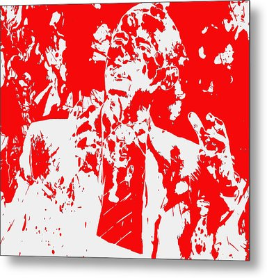 Barack Obama Paint Splatter 4d Metal Print by Brian Reaves