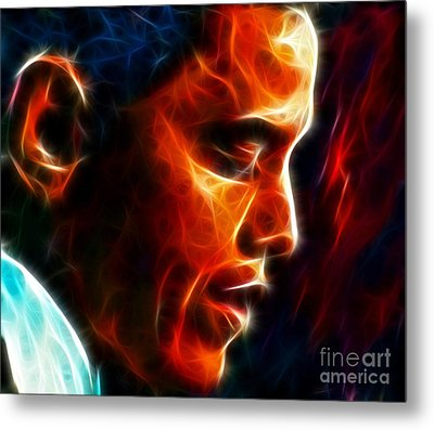 Barack Obama Metal Print by Pamela Johnson