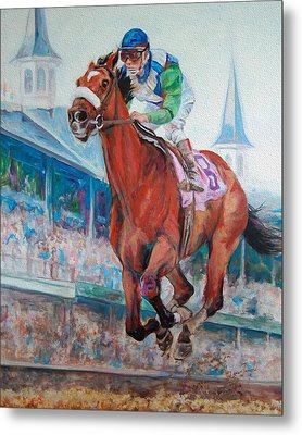 Barbaro - Horse Of The Nation Metal Print by Leisa Temple