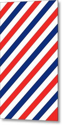 Barber Stripes Metal Print by Julia Jasiczak