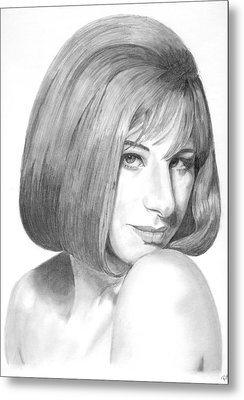 Barbra Streisand Metal Print by Rob De Vries