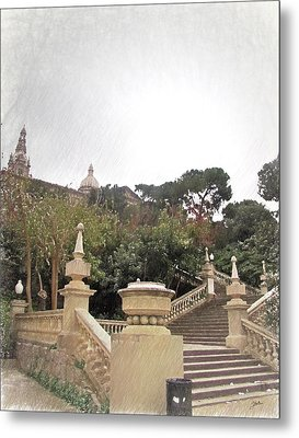 Barcelona, Magic Metal Print by Joaquin Abella
