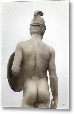 Barcelona - Sculpture Of The God Mars. Metal Print by Joaquin Abella