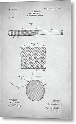 Baseball Bat Patent Metal Print by Taylan Soyturk