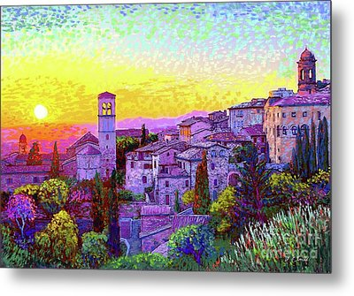 Basilica Of St. Francis Of Assisi Metal Print by Jane Small