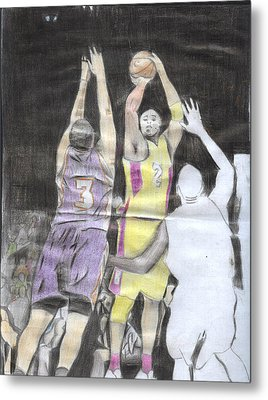 Basket Ball Metal Print by Daniel Kabugu