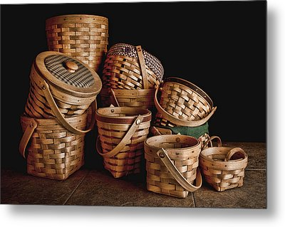 Basket Still Life 01 Metal Print by Tom Mc Nemar