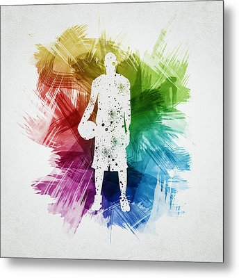 Basketball Player Art 10 Metal Print by Aged Pixel