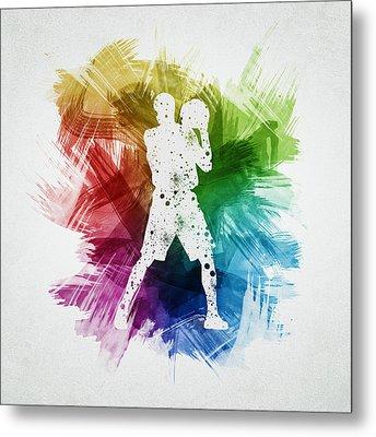 Basketball Player Art 13 Metal Print by Aged Pixel
